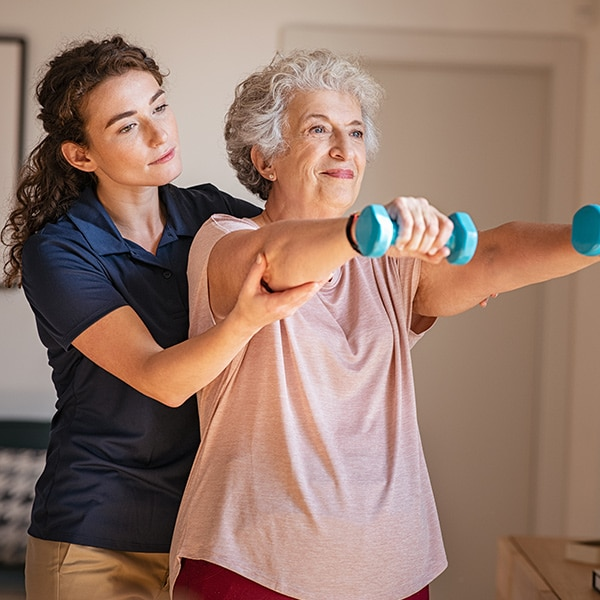 Home Care Helps with Exercise Physical Therapy at Home in St. Louis MO