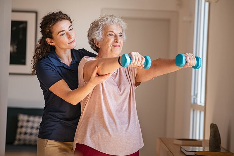 Home Care Helps with Exercise at Home in St. Louis MO